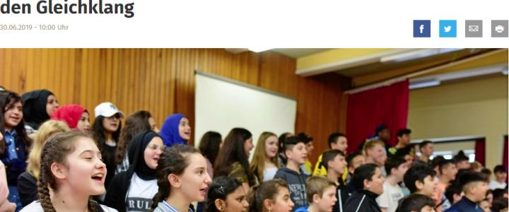 """""""Sing Together"""" – 9 Klassen der Aletta-Haniel-Gesamtschule nehmen an Gesangsprojekt der Deutschen Oper am Rhein teil"""